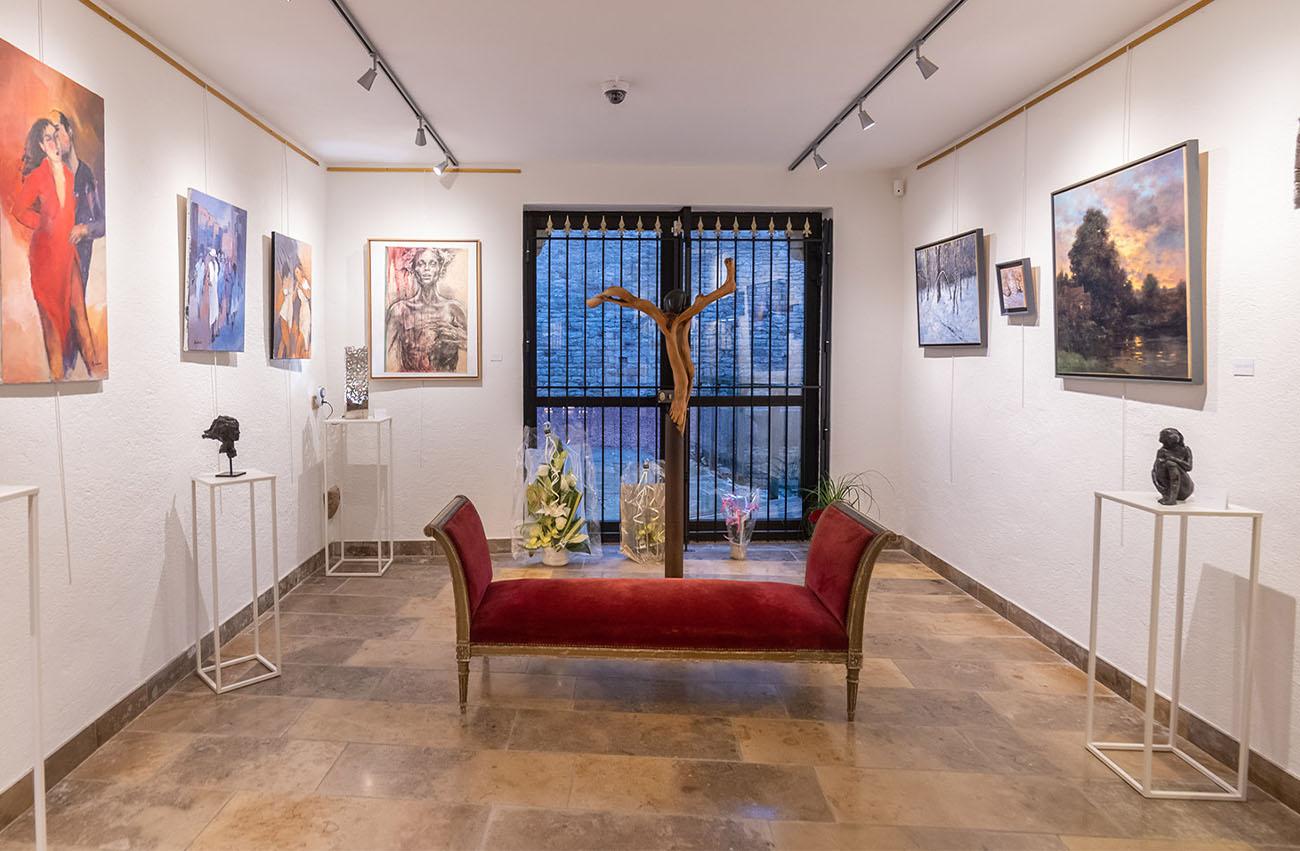 interieur Galerie Passion d'Art à Cluny