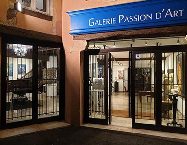 vitrine Galerie Passion d'Art en Saône-et-Loire